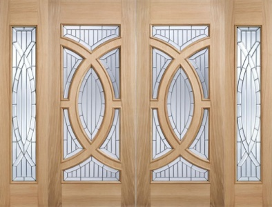 External Oak Majestic Sidelight 78'' x 18''