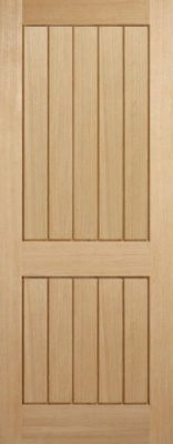 Internal Oak Mexicano 2 Panel Door