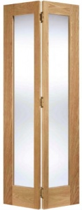 Internal Oak Pattern 10 Bi-Fold Glazed Door