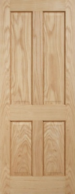 Internal Oak Regency 4 Panel Door LPD