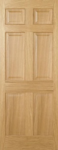 Internal Pre-Finished Oak Regency 6 Panel Door