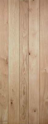 Internal Solid Oak Ledged Door