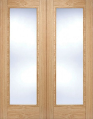 Internal Pre-Finished Oak Vancouver Pattern 10 Glazed Door Pairs