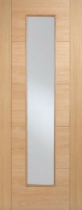 Internal Pre-Finished Oak Vancouver Long Light Glazed Door