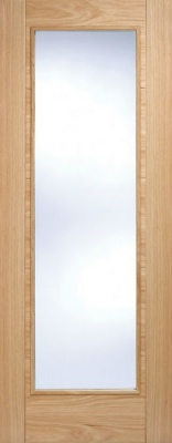 Internal Pre-finished Oak Vancouver Pattern 10 Glazed Door