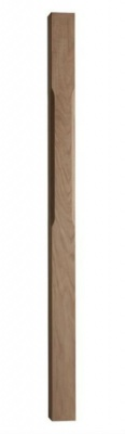 Oak Stop Chamfered Newel 91mm x 91mm x 1500mm