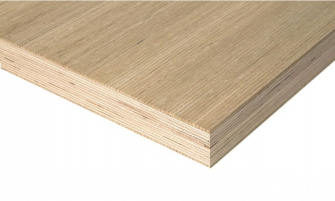 Crown Cut Oak Veneered Plywood 2440mm x 1220mm (8' x 4')