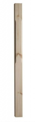 Pine Stop Chamfered Newel 1500mm