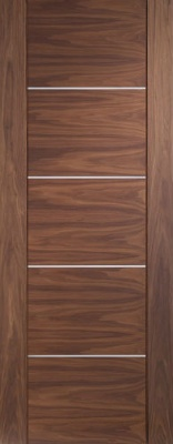 Internal Pre-Finished Walnut Portici Door