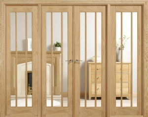 Internal Oak Lincoln W8 Room Divider