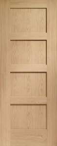 Internal Pre-Finished Oak Shaker 4 Panel Door