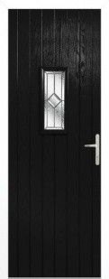 External Composite Speedwell Black Door Set