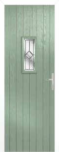 External Composite Speedwell Green Door Set