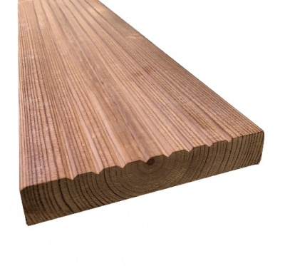 Heat Treated Thermowood Decking 150mm x 32mm x 3.9m