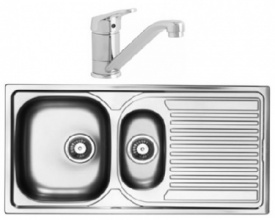 Aegean 1.5 Bowl Stainless Steel Sink with Finesse Tap