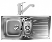 Alto 1.5 Bowl Stainless Steel Sink with Finesse Tap