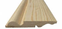 Torus/Ogee Reversible Pine Skirting 125mm x 25mm
