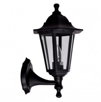Traditional Up/Down Black Wall Lantern IP44