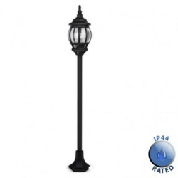 Windsor Black Outdoor 1.3m Bollard light IP44