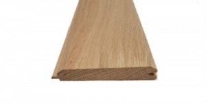 19mm x 100mm V One Side T&G Oak Cladding
