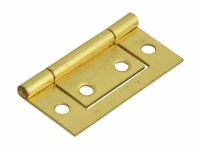 2'' Flush Hinges Electroplated Brass Pair