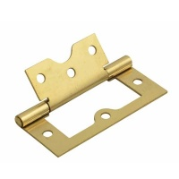 2 & 1/2'' Flush Hinges Electroplated Brass Pair