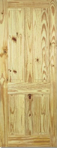 Internal Knotty Pine 4 Panel Door