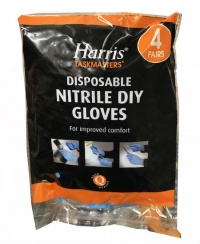 Harris Blue Nitrile Gloves (4 Pairs)