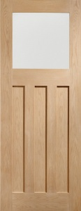 Internal Oak DX Obscure Glazed Door (78'' x 30'')