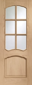 Internal Pre-Finished Oak Riviera Door (78'' x 30'')