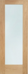 Internal Oak Pattern 10 Clear Glazed Door