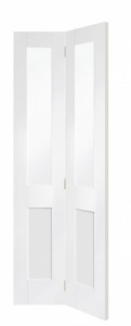 Internal White Primed Malton Shaker Glazed Bi-Fold Door (78'' x 30'')