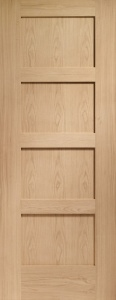 Internal Oak Shaker 4 Panel Door