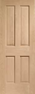 Internal Pre-Finished Oak Victorian 4 Panel Door