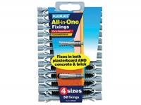 Plasplugs All-in-one Fixings  (pack of 52)