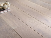 150mm x 20/6 Engineered Oak Flooring White Lacqured and Brushed Oak(1.98m2 pack)