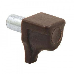 Brown Push in Shelf Support Zinc Peg (pack of 10)