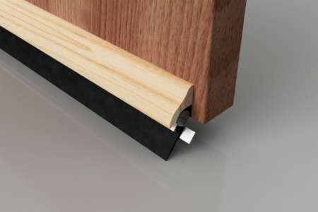 Sprung Rubber Door Seal in Wood mount 914mm