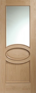 Internal Oak Calabria Clear Glazed Door (78'' x 30'')