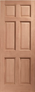 Colonial External Hardwood Door 6 Panel