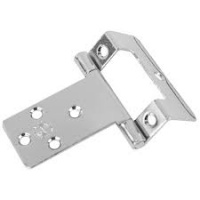 5/8'' Single Cranked Hinge Electroplated Brass Pair