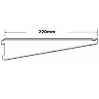 Sapphire twin slot 220mm Shelf Bracket White