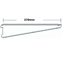 Sapphire twin slot 370mm Shelf Bracket White