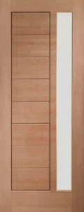 External Hardwood Modena Door with Obscure Glass