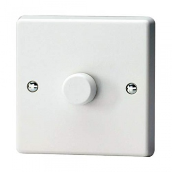 1 Gang 1 Way Dimmer Switch White Plastic