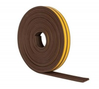 Self-Adhesive Brown Rubber Draught Excluder E Profile