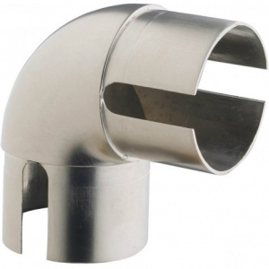 Rothley 90 Elbow in Brushed Nickel for Hand Rail System