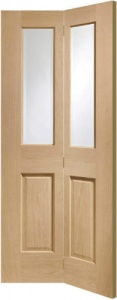 Internal Oak Malton Clear Glazed Bi-Fold Door (78'' x 30'')