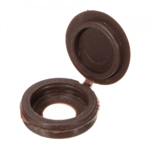 Brown Hinged Screw Cover Cap (Pack of 20)