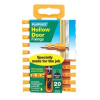 Plasplugs Hollow Door Fixings (pack of 20)